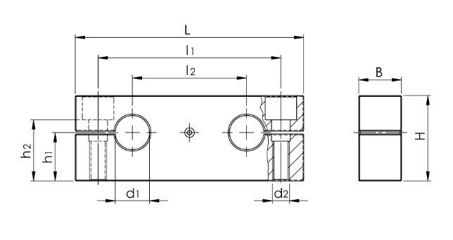 9 Präzisions-Duo-Wellenböcke GWD-1 ISO-Serie 1, beweglich