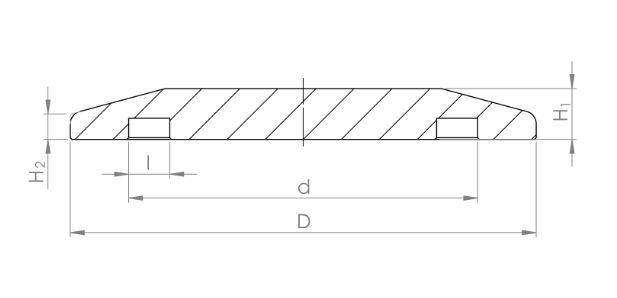 ISO-KF Blindflansch 3.2315