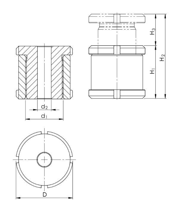 1.5 Höhenverstellschrauben HVS