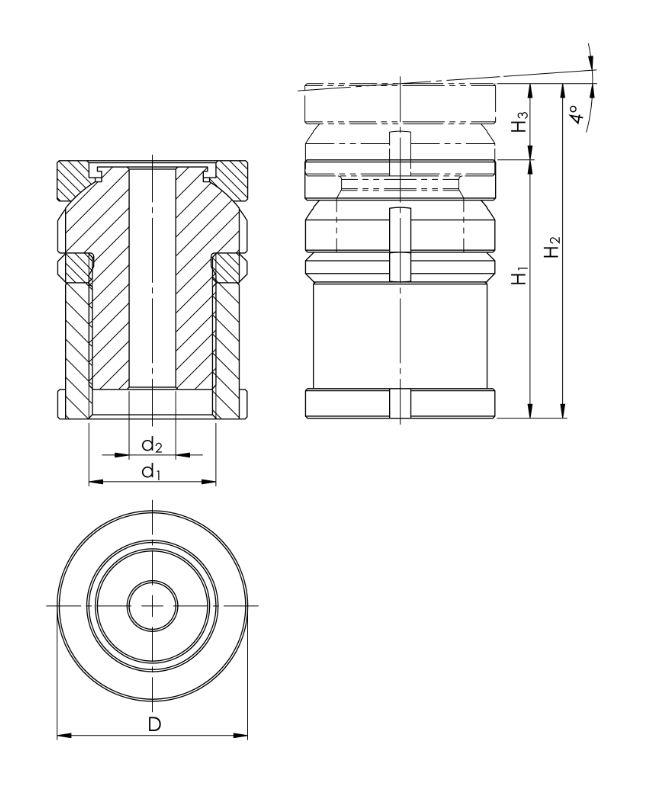 2.8 Kugel-Verstellschraube mit Kontermutter KVSK