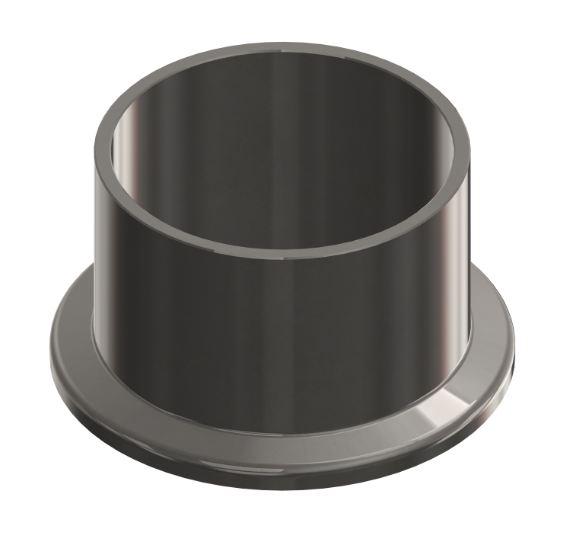 ISO-KF Flansch mit Rohransatz 1.4404