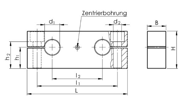5. Präzisions-Duo-Wellenböcke GWD-1 ISO Serie 1, fest