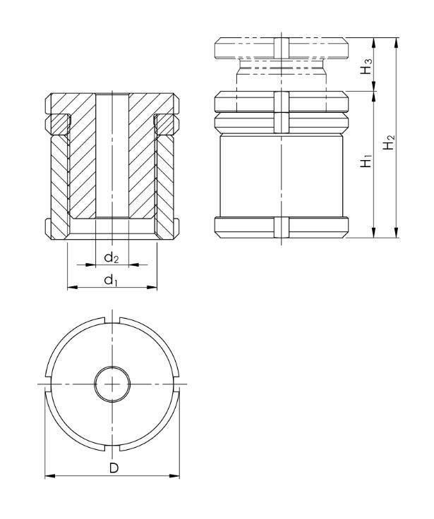 2.6 Höhenverstellschrauben mit Kontermutter HVSK